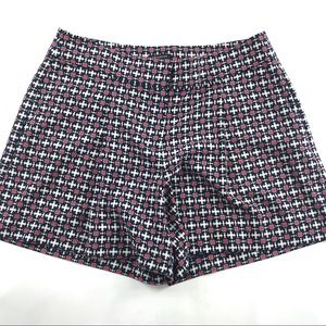 New Ann Taylor Factory Pleated Geo Print Shorts